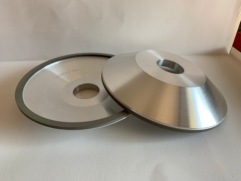 D11V9-2  3-3/4  70° x 1-1/4 1/8 x 3/8 Diamond Grit 220 Con 125 Diamond Grinding Wheel