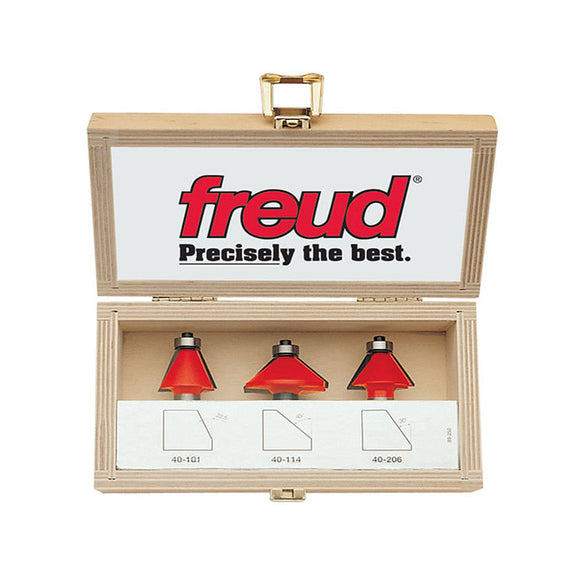 Freud Router Bit Set - 3 PIECE COVE BIT SET