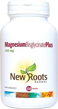 New Roots Magnesium Bisglycinate Plus 150 mg/60caps - New Roads Nutrition
