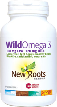 New Roots Wild Omega 3 - 120 caps - New Roads Nutrition