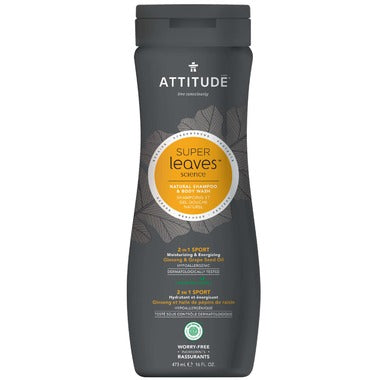 Attitude Shampoo & Body Sport 2 in 1 - 473ml - New Roads Nutrition