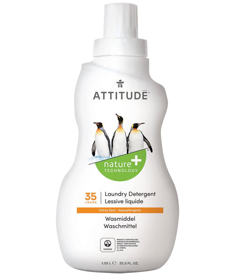 Attitude Laundry Detergent Citrus Zest 2 ltr (80 Washes) - New Roads Nutrition