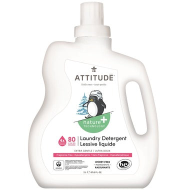 Attitude Laundry Detergent Fragrance Free 2 ltr (80 Washes) - New Roads Nutrition