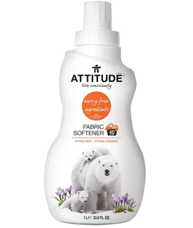 Attitude Fabric Softner Citrus Zest 1Ltr - New Roads Nutrition