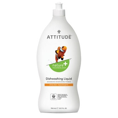 Attitude Dishwashing Liquid Citrus Zest 700 ml - New Roads Nutrition