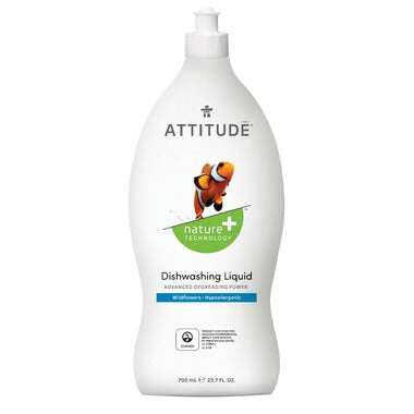 Attitude Dishwashing Liquid Wildflowers 700 ml - New Roads Nutrition
