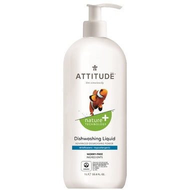 Attitude Dishwashing Liquid Wildflower 1 ltr - New Roads Nutrition