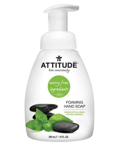 Attitude Hand Soap Foaming Green Apple & Basil 295 ml - New Roads Nutrition