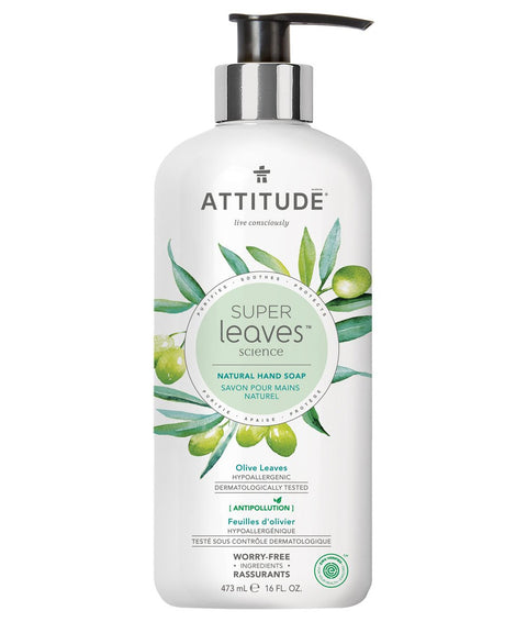 Attitude Hand Soap Olive Leaves 473 ml - New Roads Nutrition