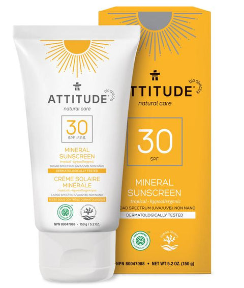 Attitude Sun Screen SPF 30 Adult - Tropical 150 gr - New Roads Nutrition
