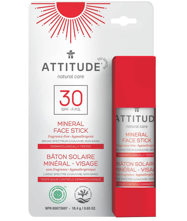 Attitude Sun Screen Face Stick SPF 30 Adult 18.5 gr - New Roads Nutrition