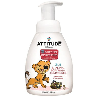 Attitude Shampoo/Conditioner Little Ones 3 in 1 -  300 ml - New Roads Nutrition