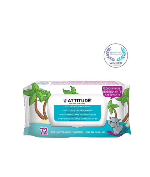 Attitude Baby Wipes Biodegrade 70 Pc - New Roads Nutrition