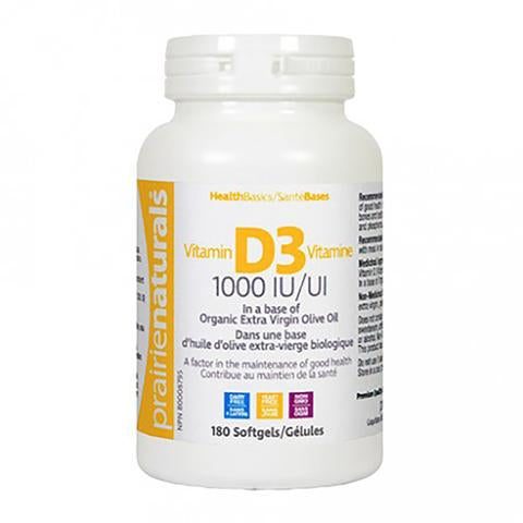 Prairie Naturals Vitamin D3 - 180 gels - New Roads Nutrition
