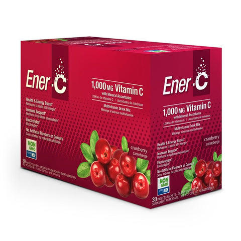 Ener-C Cranberry 30 pk - Single Servings 1000 mg Vitamin C - New Roads Nutrition