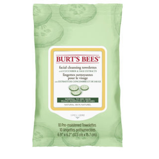 Burt's Bee's Facial Cleansing Towelettes Cucumber & Sage 10 pk - New Roads Nutrition
