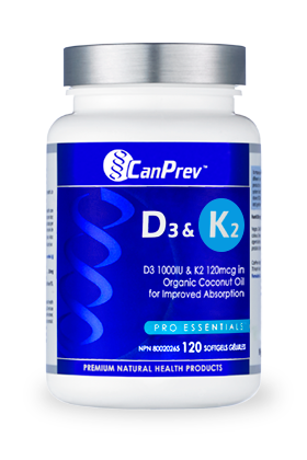 CanPrev D3 & K2 120 softgel - New Roads Nutrition