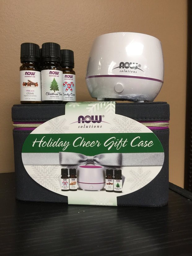 Now Holiday Cheer Gift Case - Diffuser/Essential Oils - New Roads Nutrition
