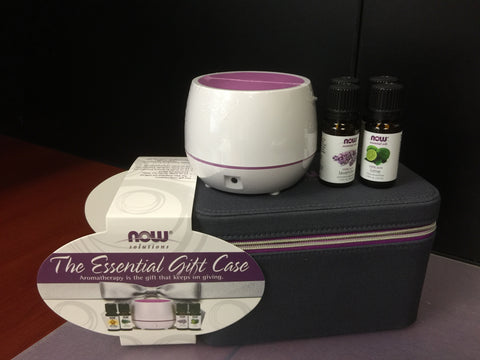 Now The Essential Gift Case - Diffuser & Essential Oils - New Roads Nutrition