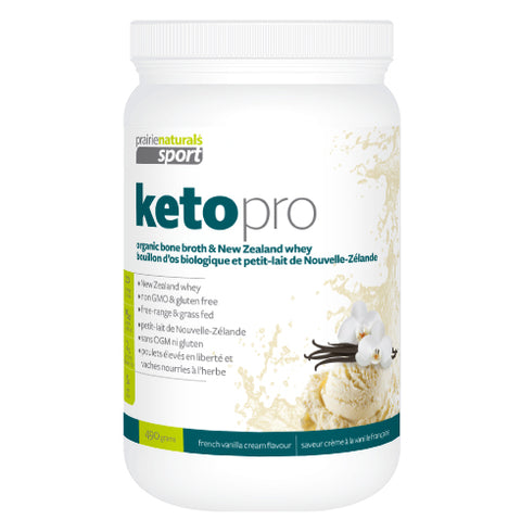 Prairie Naturals Keto Whey Protein Vanilla Organic Bone Broth & Grass Fed 396Gr - New Roads Nutrition