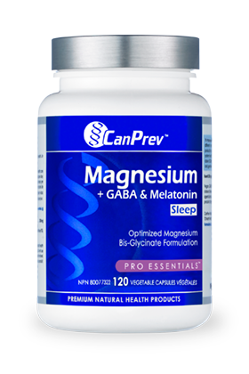 CanPrev Magnesium * Gaba Melatonin Sleep 120 caps - New Roads Nutrition