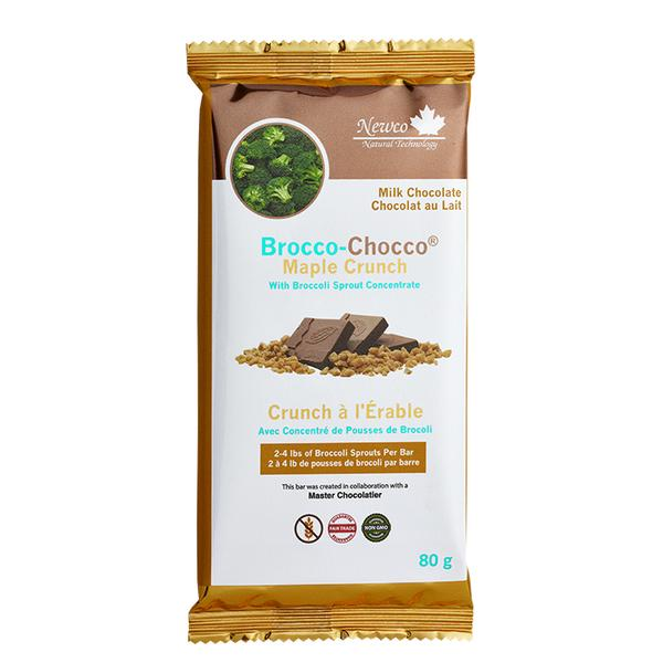 Newco Brocco-Maple Crunch Milk 80 gr Bar - New Roads Nutrition