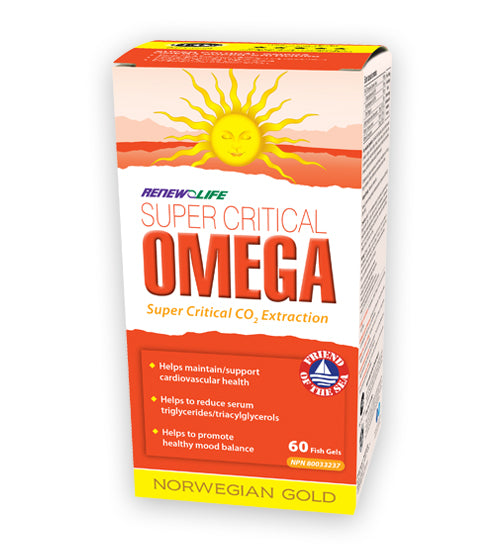 Renew Life Super Critical Omega 30 softgels Norwegian Gold Fish Oils - New Roads Nutrition