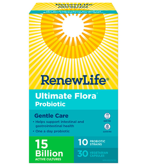 Renew Life Ultimate Flora - Gentle Care 15B - 30 caps - New Roads Nutrition