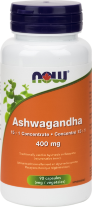 Now Ashwagandha 400 mg 90 caps - New Roads Nutrition