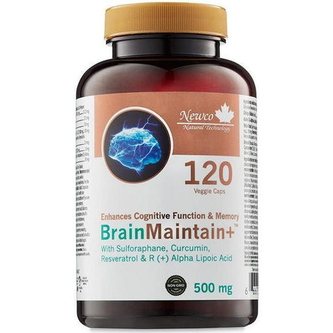 Newco Brain Maintain+ 500 mg 120 caps - New Roads Nutrition