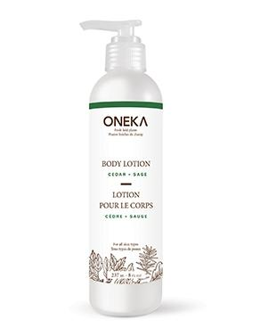 Oneka Body Lotion  Cedar & Sage 237 ml - New Roads Nutrition