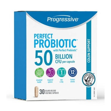 Progressive Perfect Probiotic Colon Support 50 B - 30 caps - New Roads Nutrition