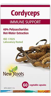 New Roots Cordyceps 60 caps Mushroom Immune Support - New Roads Nutrition