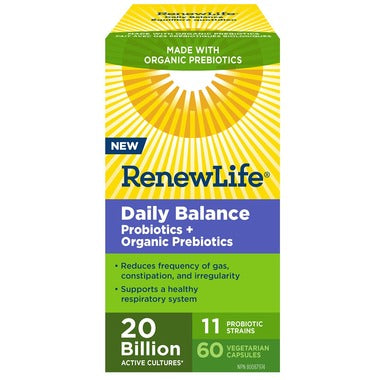 Renew Life Daily Balance Probiotic Prebiotic 60 ct - New Roads Nutrition