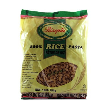 Rizopia Pasta Rice Pasta Elbow 454 gr - New Roads Nutrition