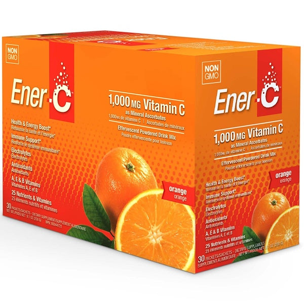 Ener-C Orange 30 pk - Single Servings 1000 mg Vitamin C - New Roads Nutrition