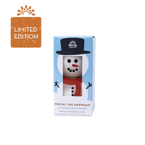 Pacha Frothy the Snowman w Lavender Bath Bombs 2 -85gr - New Roads Nutrition