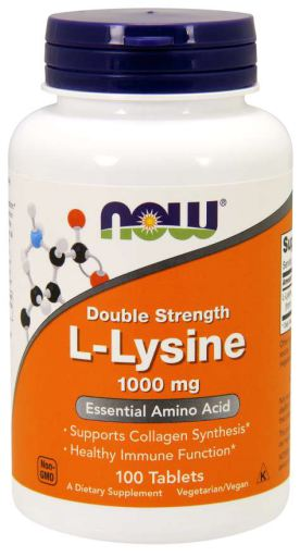 Now Lysine 1000mg - 100 tablets - New Roads Nutrition