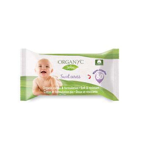 Organyc Baby Wipes 60 ct - New Roads Nutrition