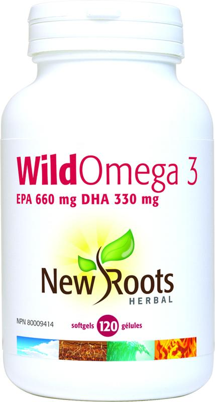New Roots Wild Omega 3 EPA 660 mg DHA 330 mg 120 caps - New Roads Nutrition
