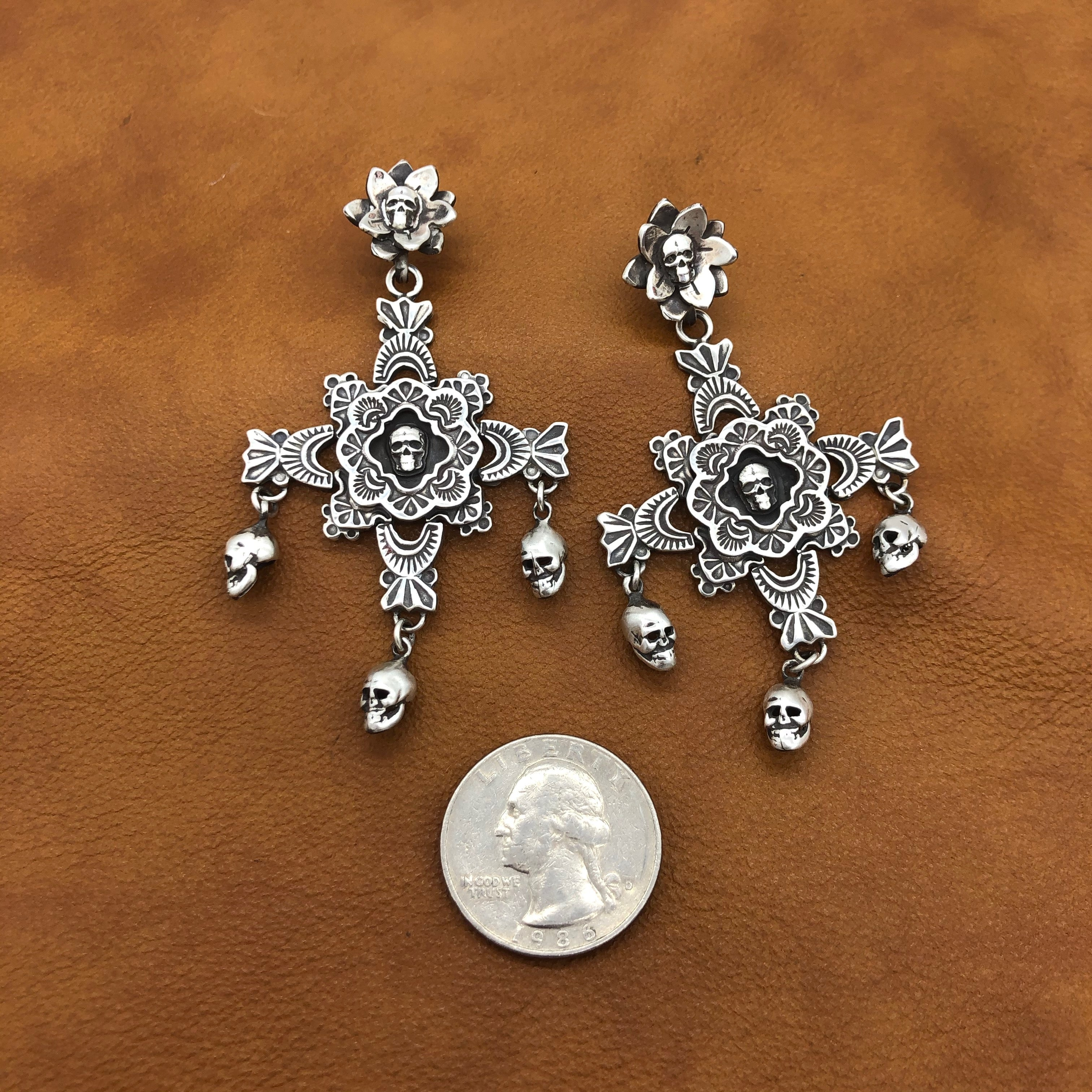 CYBER SALE E69 Puerto de Luna with Skulls Earrings