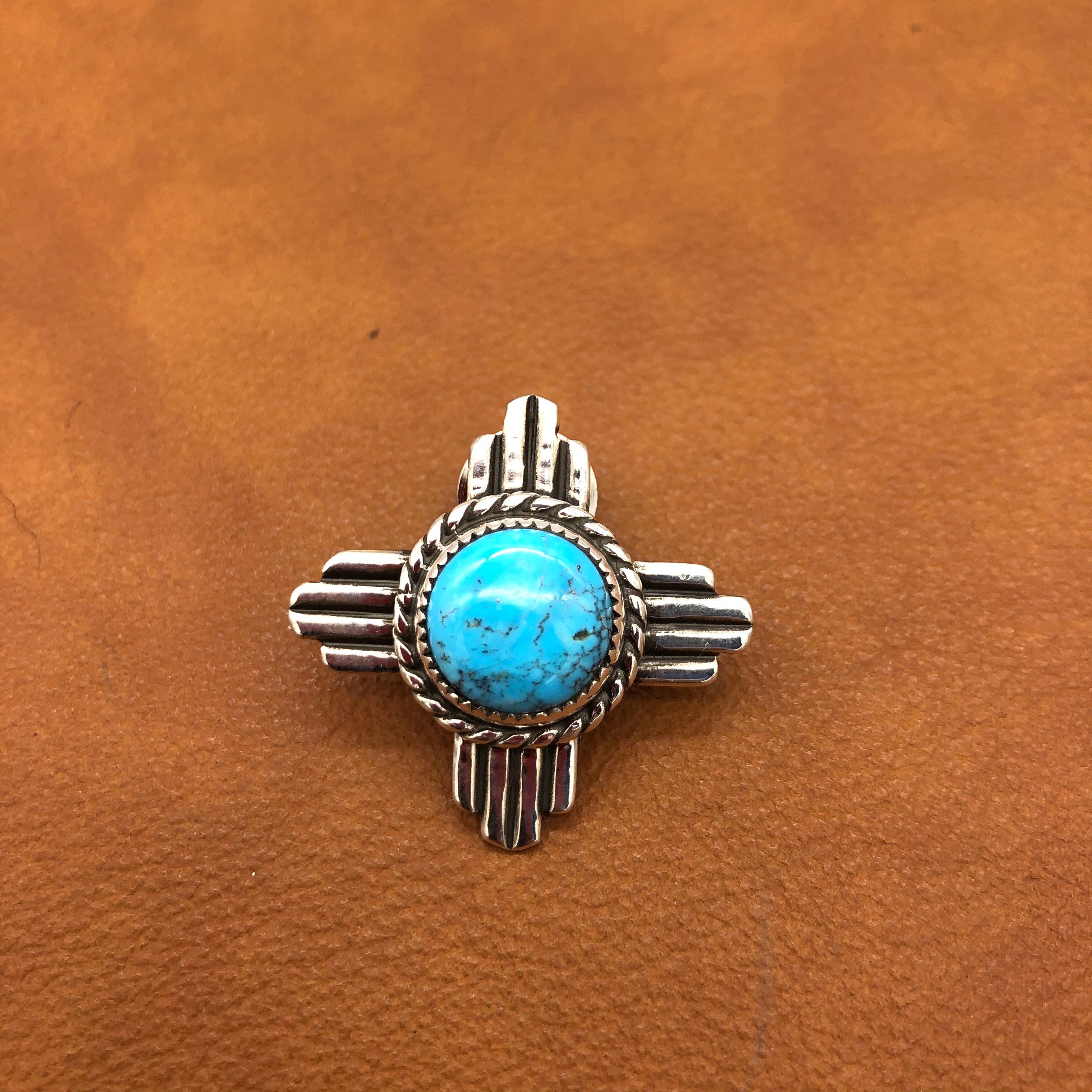 SALE on In STOCK ONLY Mayor Tim Keller's Zia Turquoise Lapel Pin PZ