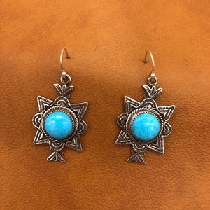 E243 Canoncito with Turquoise Earrings