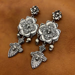 E26 Plaza Cross with Skulls Earrings