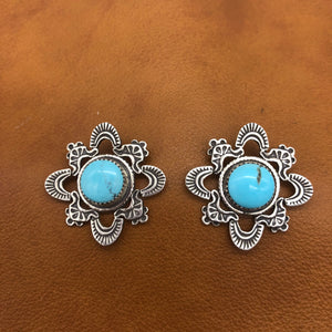 SALE Kiva Turquoise Earrings E368