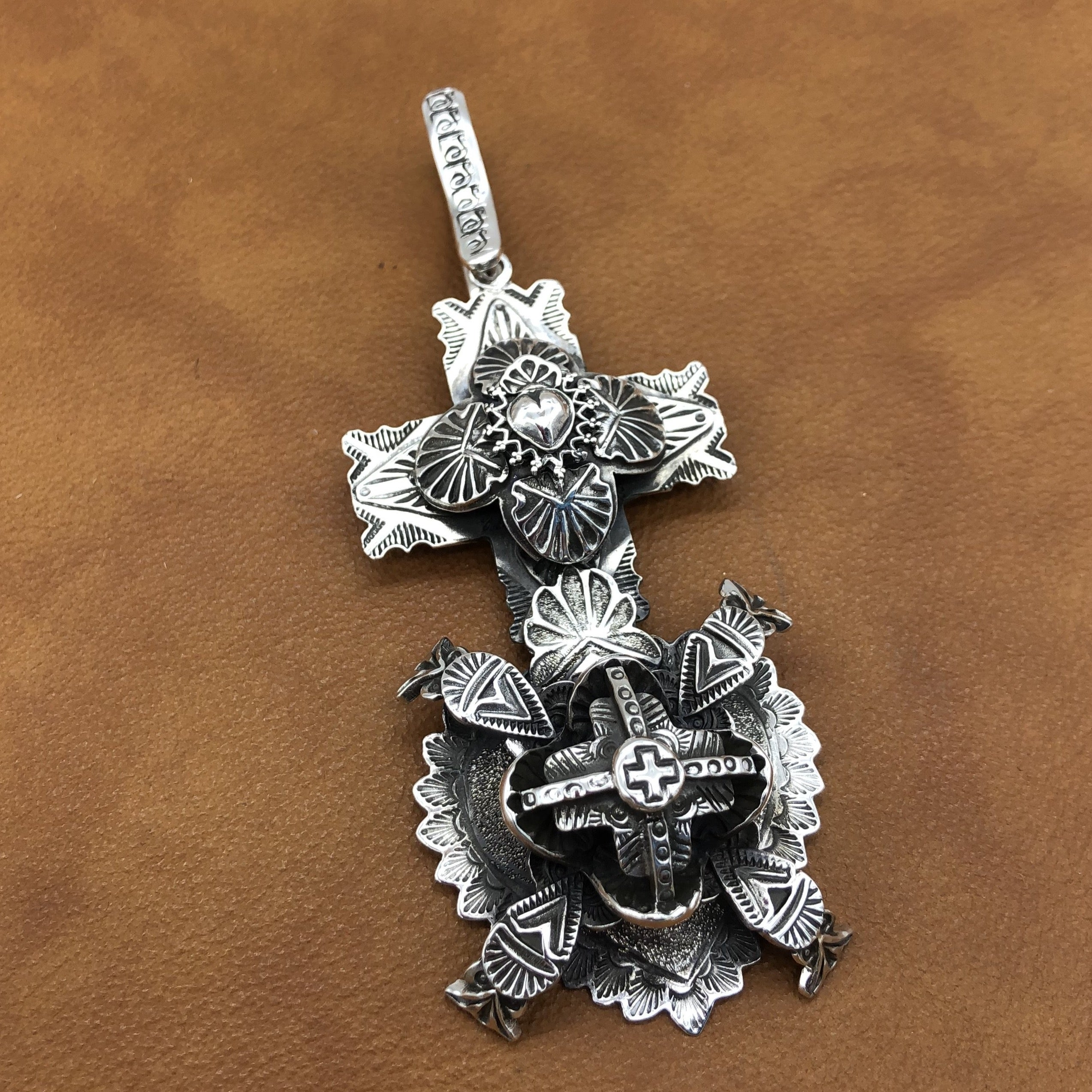 PTH67 Cross and Heart Pendant