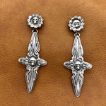 25% OFF Flaco Cross with Skulls Earrings E213