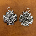 20% OFF Plaza Cross Rose Center Earrings E88SR
