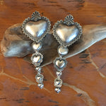 EBHC Cascading Hearts Large Repousse Earrings
