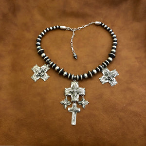 N202 Statement Cross Necklace